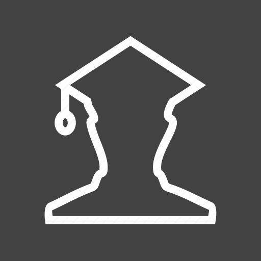 college, education, graduate, male, professor, student, university icon
