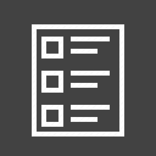 checklist, document, exam, paper, questionnaire, quiz, test icon