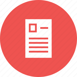 document, entry form, information, paper, questionnaire, report, template icon