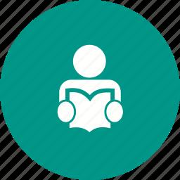 book, educate, education, graduate, read, student, study icon