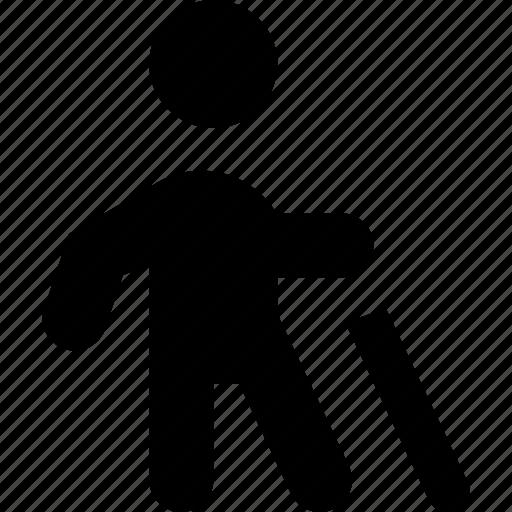 blind, walking icon