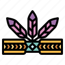 accessories, adornment, feathers, headband icon