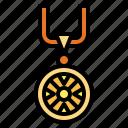 accessories, medallion, necklace, pendant icon