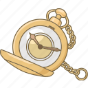 accessory, antique, pocket watch, pocketwatch, time, timekeeping, timepiece icon