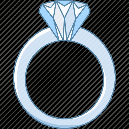 Diamond, engagement, jewellery, jewelry, ring, romance, wedding icon - Download on Iconfinder