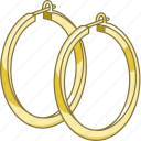 accessory, earrings, hoop, jewellery, jewelry, loop icon