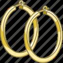accessory, earrings, hoop, jewellery, jewelry, loop
