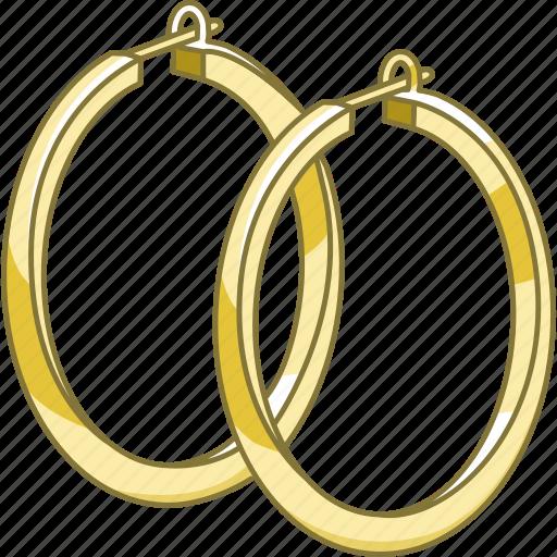 accessory, earrings, hoop, jewellery, jewelry, loop icon