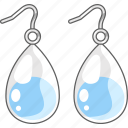 accessories, earrings, jewellery, jewelry, teardrop icon