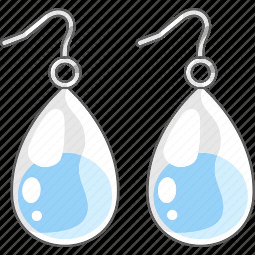 accessories, earrings, jewellery, jewelry, teardrop icon