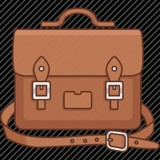 bag, book, fashion, mens, satchel, student icon