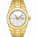 accessory, rollex, time, timepiece, watch, wrist icon