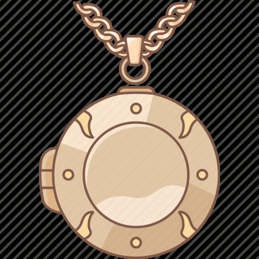 jewellery, jewelry, locket, pendant, photo, picture, round icon