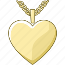 heart, jewellery, jewelry, locket, pendant, shaped icon