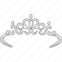 crown, diadem, gala, princess, queen, tiara icon