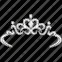 crown, diadem, gala, princess, queen, tiara