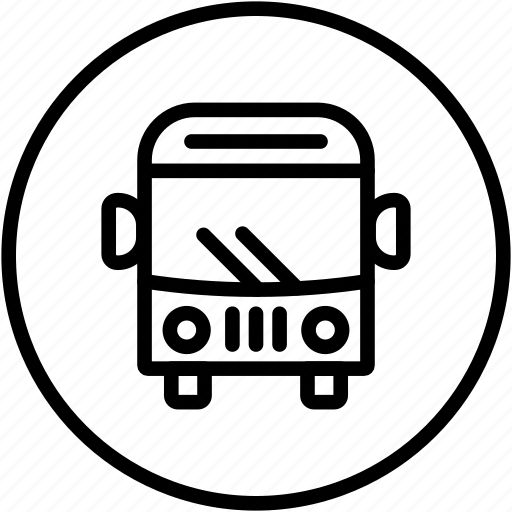 bus, public transport, train, transport, travelers, truck, van icon