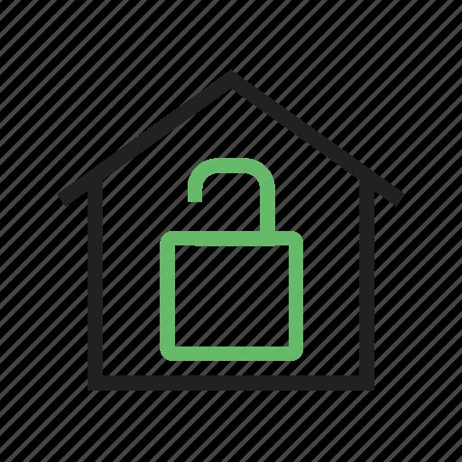 door, handle, home, house, keys, open, security icon