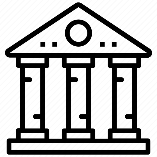 bank, bank building, bank exterior, finance, money icon