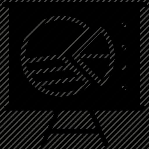 dashboard, exploded pie chart, pie chart, presentation, statistics icon