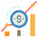 graph, growth, increase, money, profit icon