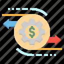 business, credit, gears, money, transaction