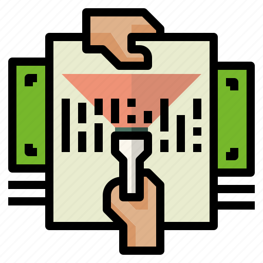 barcode, documents, payments icon