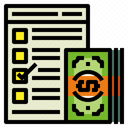 checklist, cost, document icon
