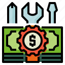 accounting, customized, money icon