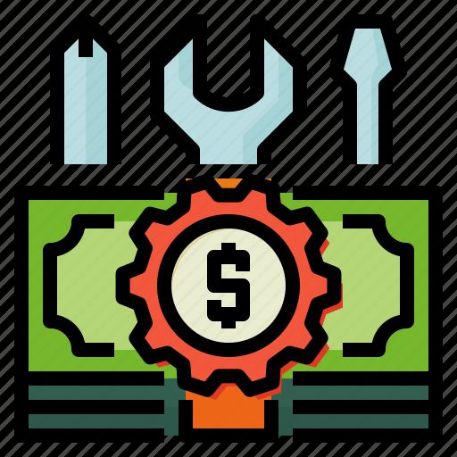accounting, customized, money icon