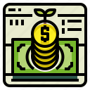 account, banking, deposit, money icon