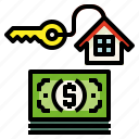 home, loan, money icon