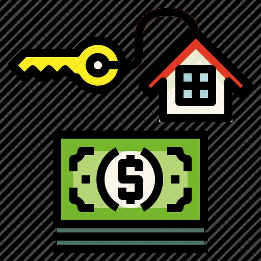 home, loan, money icon