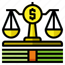 fair, law, lawsuit, scale icon