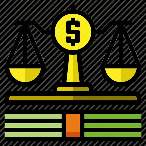 fair, law, lawsuit, scale icon