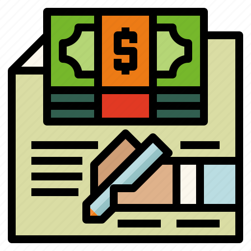 agreement, contract, loan, sign icon