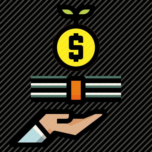 bank, interest, principal icon