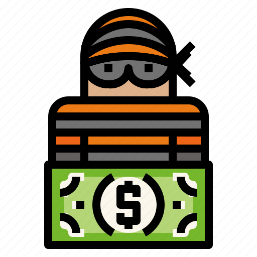bank, financial, robbery icon