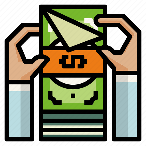 counting, hand, money icon