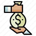 bag, benefit, earnings, money icon
