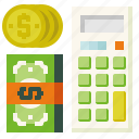 calculate, calculator, income icon
