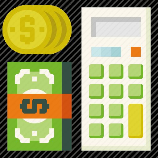 calculate, calculator, income icon