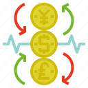 currency, exchange, rate icon