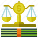 law, lawsuit, scale icon