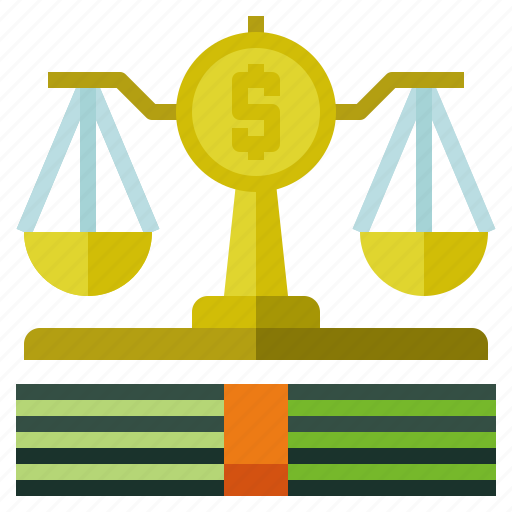 law, lawsuit, scale icon