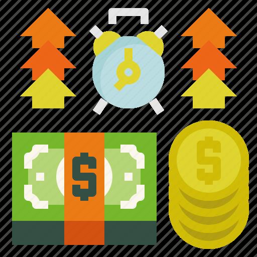 money, refund, time icon