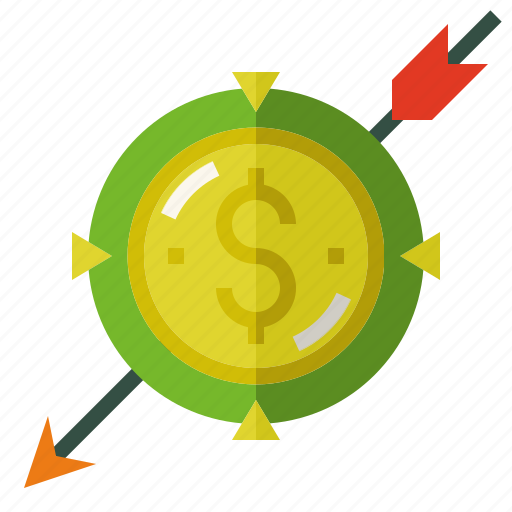 investment, money, target icon