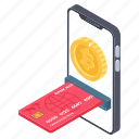 cash transaction, credit card transaction, electronic transfer, mobile transfer, money transfer icon
