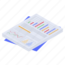 business analysis, business analytics, business chart, business document, business report icon