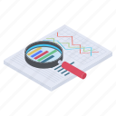 business analysis, business analytics, data analysis, data representation, graphical analysis icon